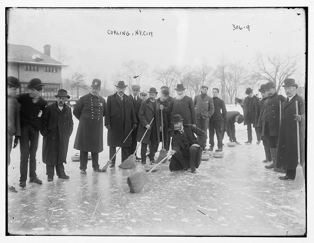 8 x 10 Photo of Curling-N.Y.C. 1890-1920 G. Bain Collection 64a