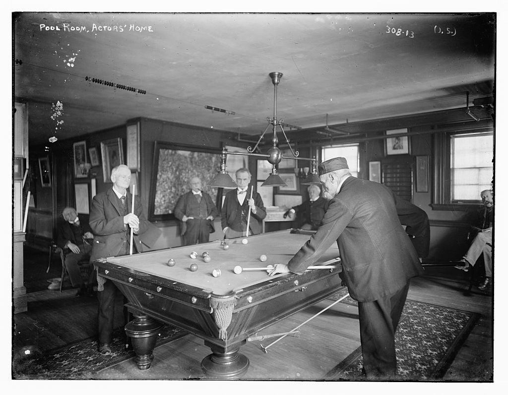 8 x 10 Photo of Actor's Home: pool room 1890-1920 G. Bain Collection 81a
