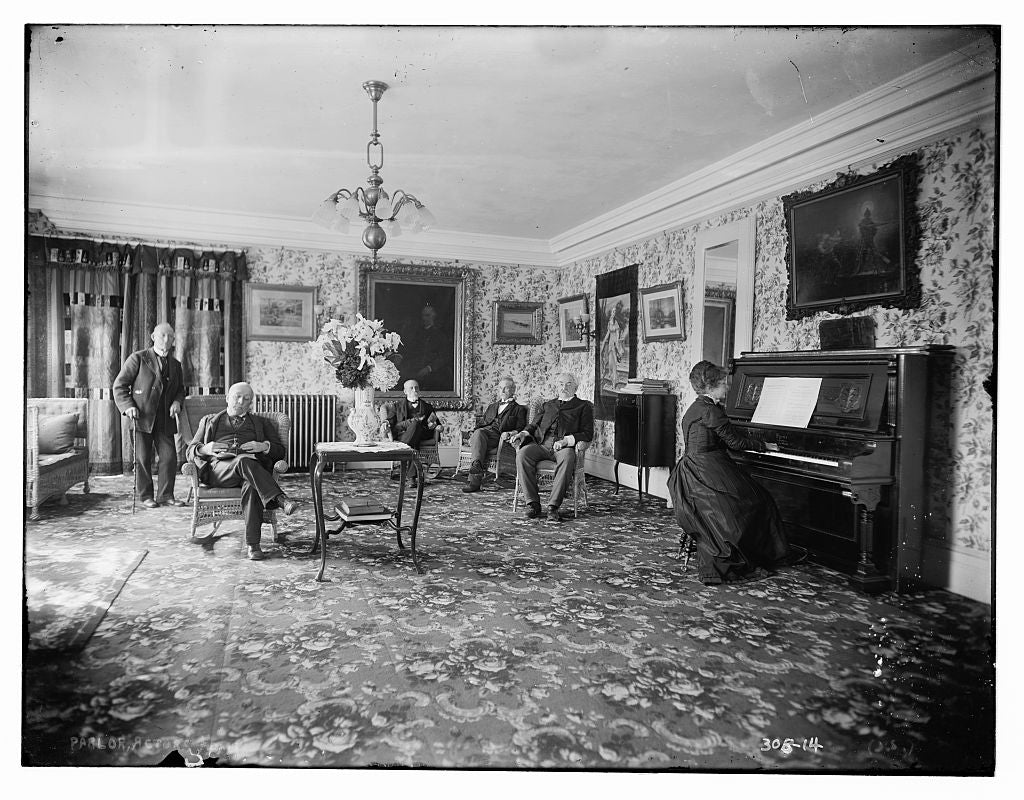 8 x 10 Photo of Actor's Home: parlor 1890-1920 G. Bain Collection 82a