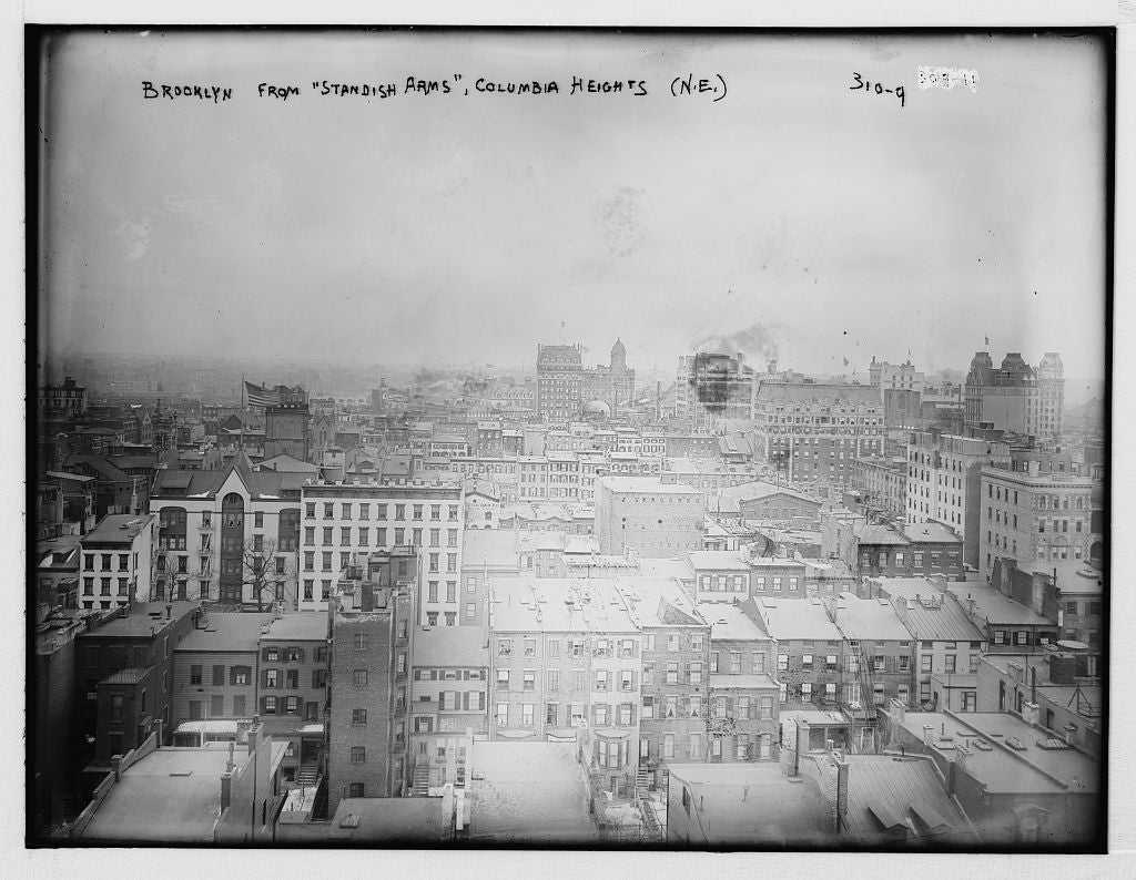"8 x 10 Photo of Brooklyn from ""Standish Arms"", Columbia Heights N.E.  1890-1920 G. Bain Collection 96a"