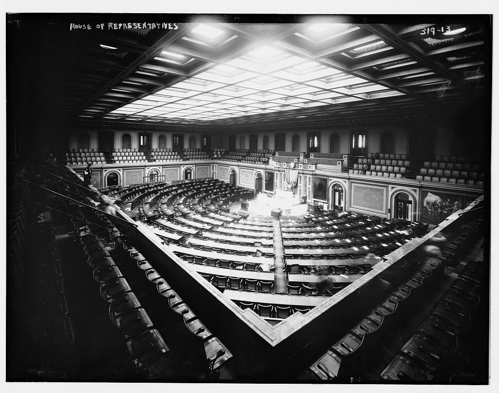 8 x 10 Photo of House of Reps., U.S. Capitol 1890-1920 G. Bain Collection 55a