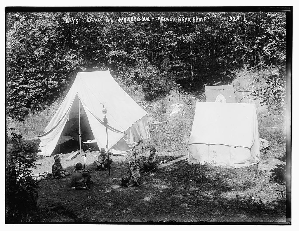 8 x 10 Photo of Black Bear Camp, Boys Camp at Wyndygoul 1890-1920 G. Bain Collection 82a