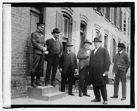 16 x 20 Gallery Wrapped Frame Art Canvas Print of  Alley Committee 1920 National Photo Co  59a