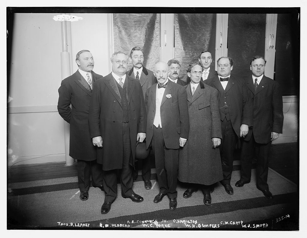 8 x 10 Photo of Leahey Hebbard, Yorke, Gompers, Smith, Carty, Hamilton, Connover, Jr. 1890-1920 G. Bain Collection 45a