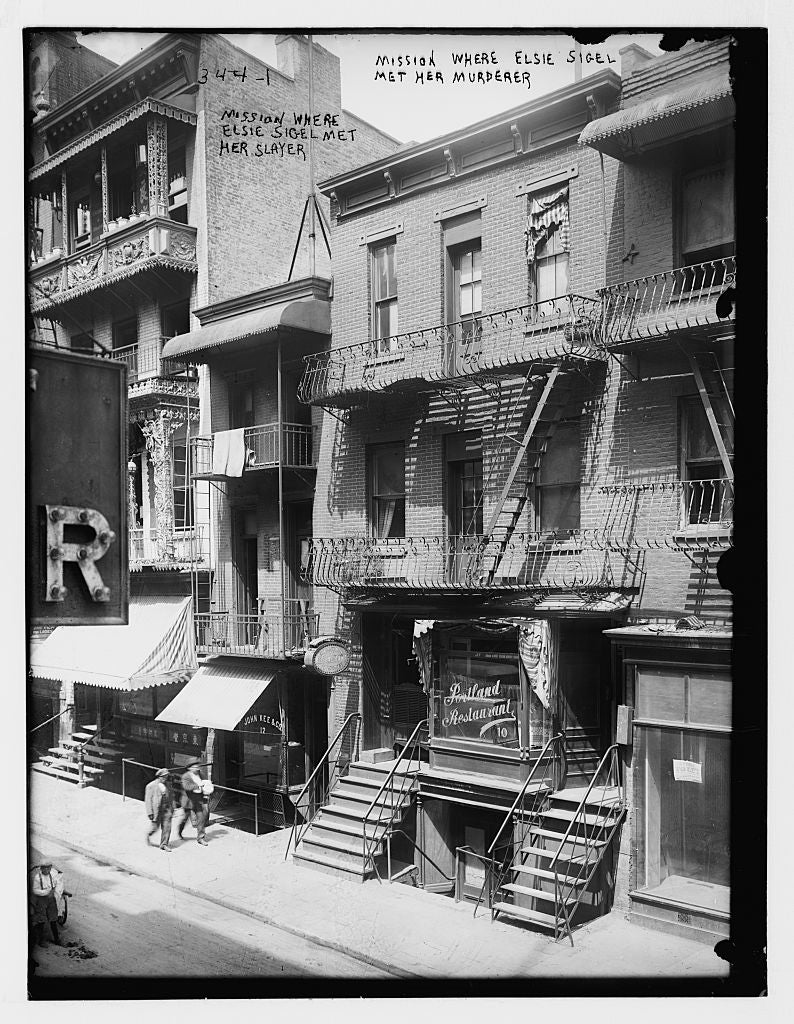 8 x 10 Photo of Mission house where Elsie Sigel was murdered 1890-1920 G. Bain Collection 68a