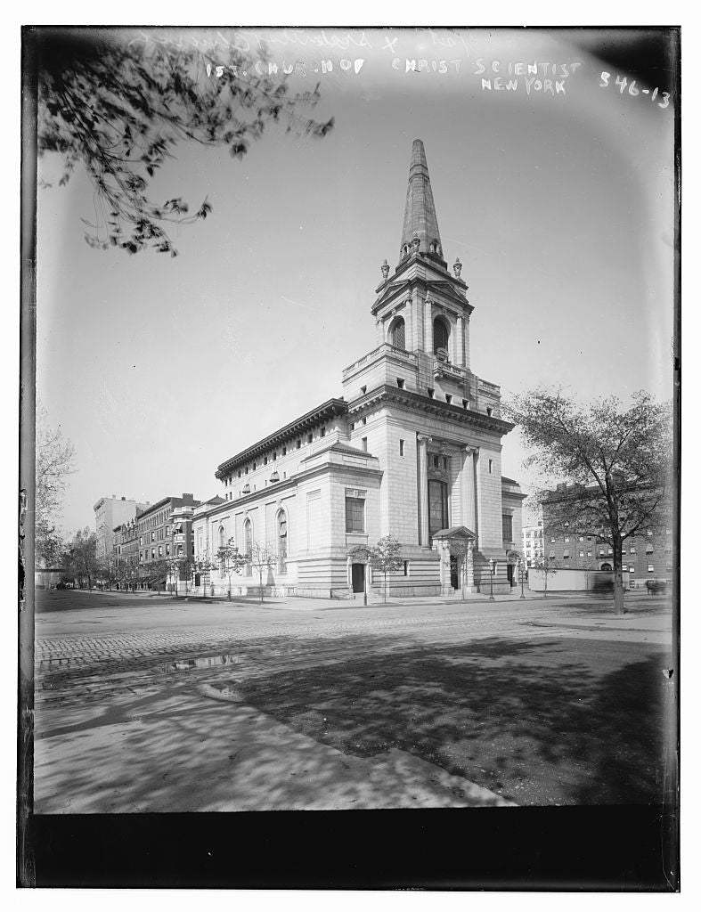 8 x 10 Photo of N.Y. 1st Church of Christian Scientist 1890-1920 G. Bain Collection 04a