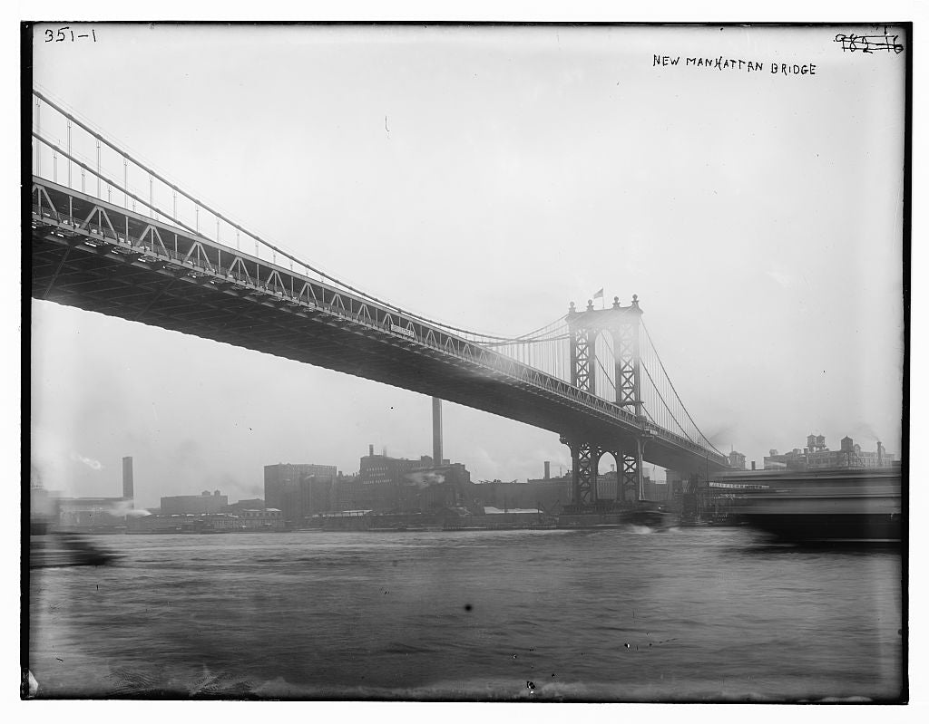 8 x 10 Photo of New Manhattan Bridge 1890-1920 G. Bain Collection 27a