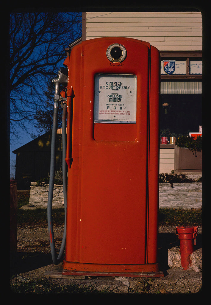 8 x 12 Photo of Gas pump, Route 3, Kolstad, Minnesota 1981 Margolies, John 93a
