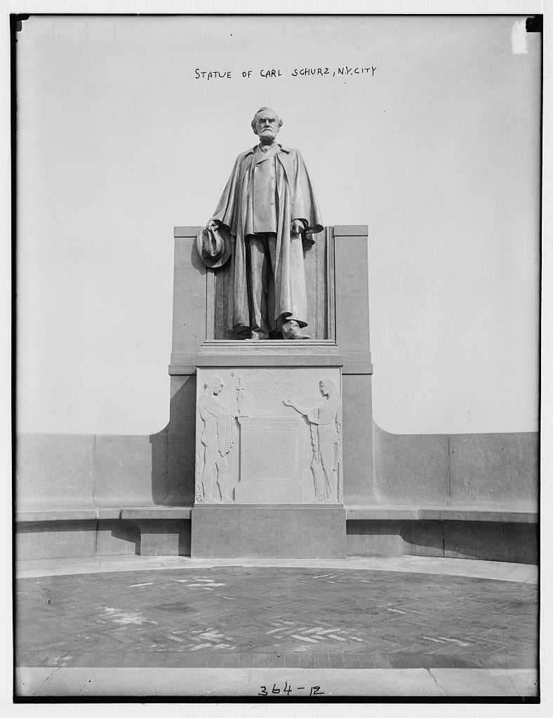 8 x 10 Photo of Statue of Carl Schurz, N.Y. City 1890-1920 G. Bain Collection 89a