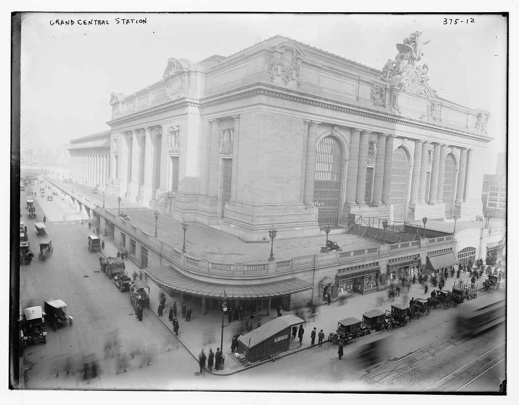 8 x 10 Photo of Grand Central Station 1890-1920 G. Bain Collection 68a