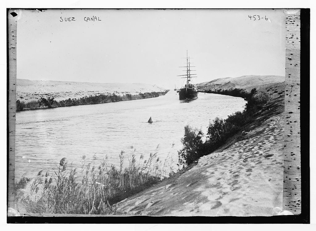 8 x 10 Photo of Ship in Suez Canal, Egypt 1890-1920 G. Bain Collection 75a