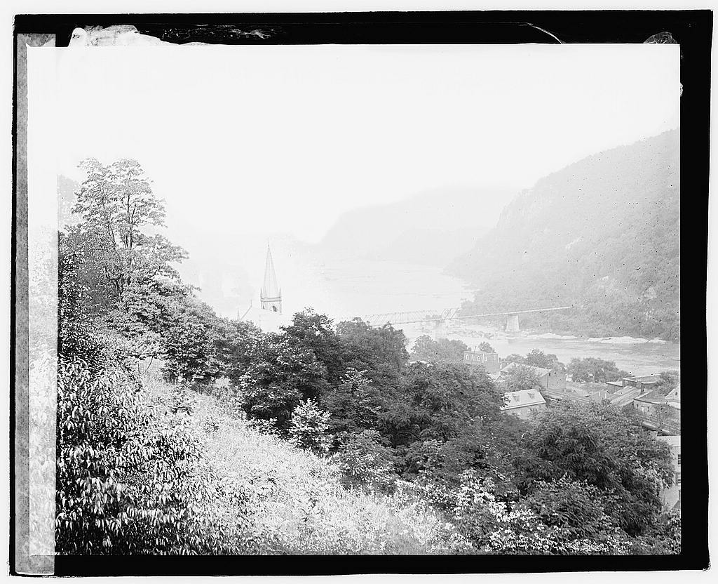 16 x 20 Reprinted Old Photo ofHarpers Ferry, W.Va. 1920 National Photo Co  45a