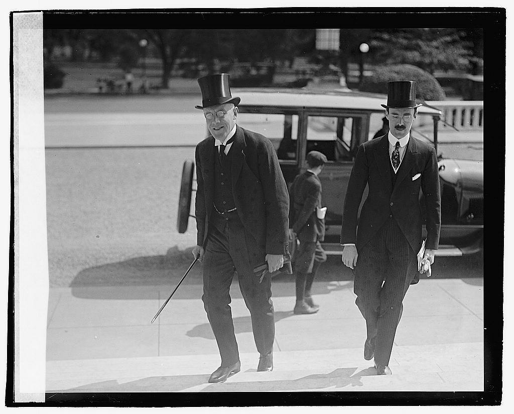 16 x 20 Reprinted Old Photo ofSir Auckland Geddes and Robt. Craigie 1920 National Photo Co  32a