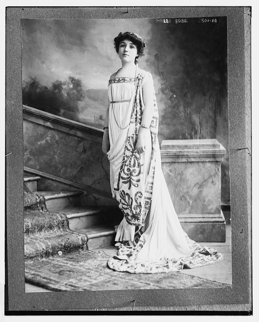 8 x 10 Photo of Greek robe 1890-1920 G. Bain Collection 97a