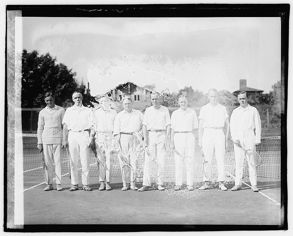 16 x 20 Reprinted Old Photo ofDumbarton Club tennis team, 1920 1920 National Photo Co  54a
