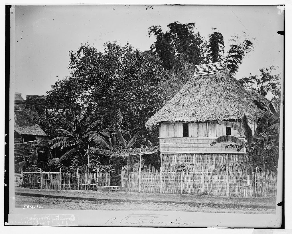 8 x 10 Photo of County House, Phillippines 1890-1920 G. Bain Collection 62a