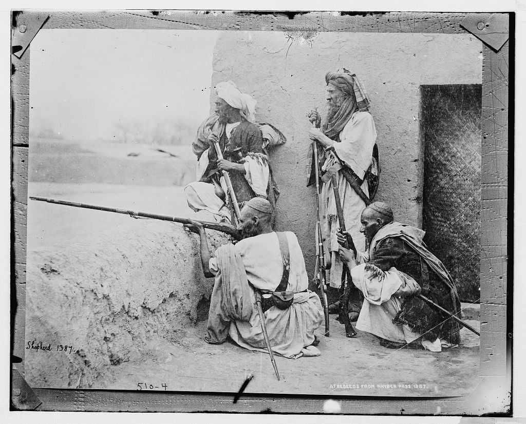 8 x 10 Photo of Afredeeds from Khyber Pass 1890-1920 G. Bain Collection 68a