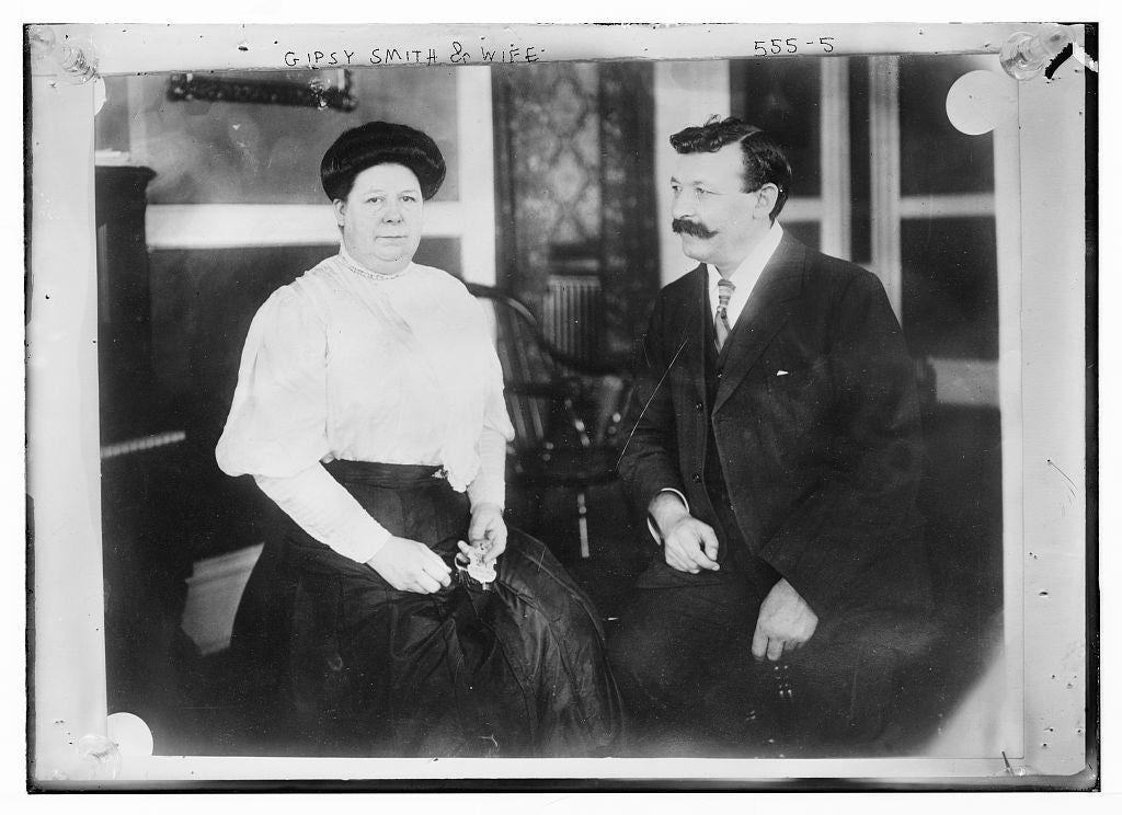 8 x 10 Photo of Gipsy Smith and wife, seated 1890-1920 G. Bain Collection 15a