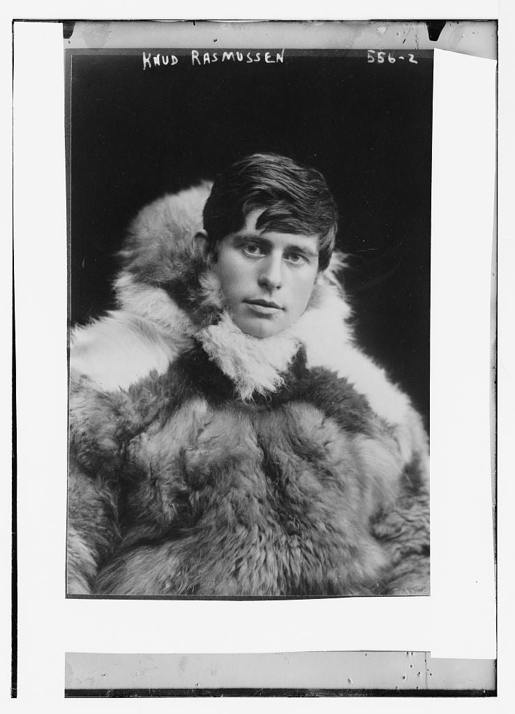 8 x 10 Photo of Knud Rasmussen, bundled in fur coat 1890-1920 G. Bain Collection 21a