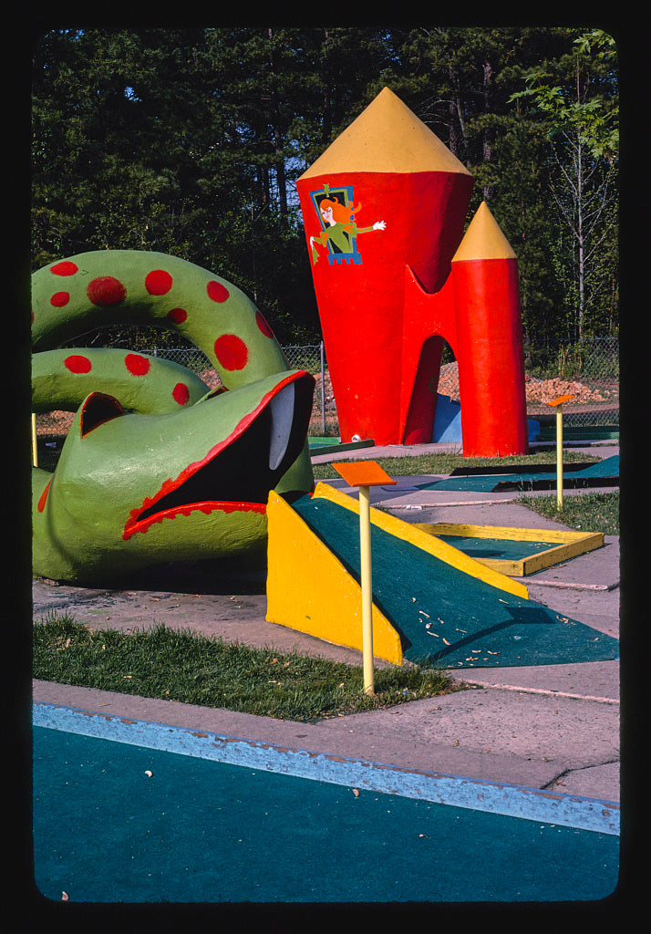 8 x 12 Photo of Snake and tower, Sir Goony Golf, Independence Boulevard, Charlotte, North Carolina 1982 Margolies, John 61a