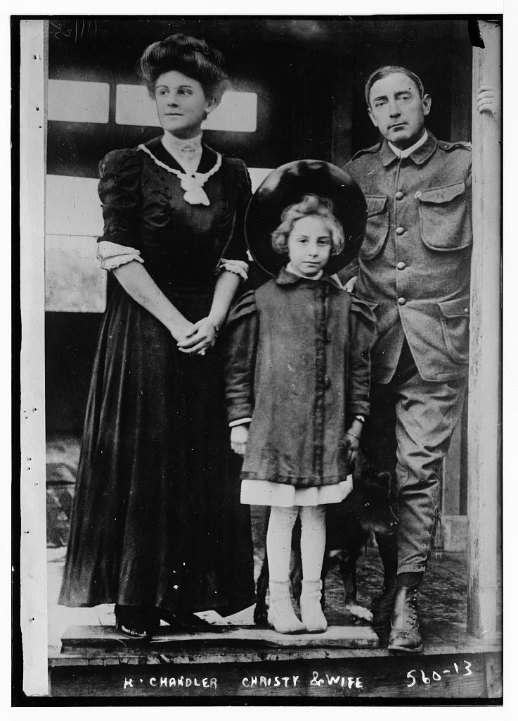 8 x 10 Photo of H. Chanler Christy, standing together with wife and daughter 1890-1920 G. Bain Collection 41a