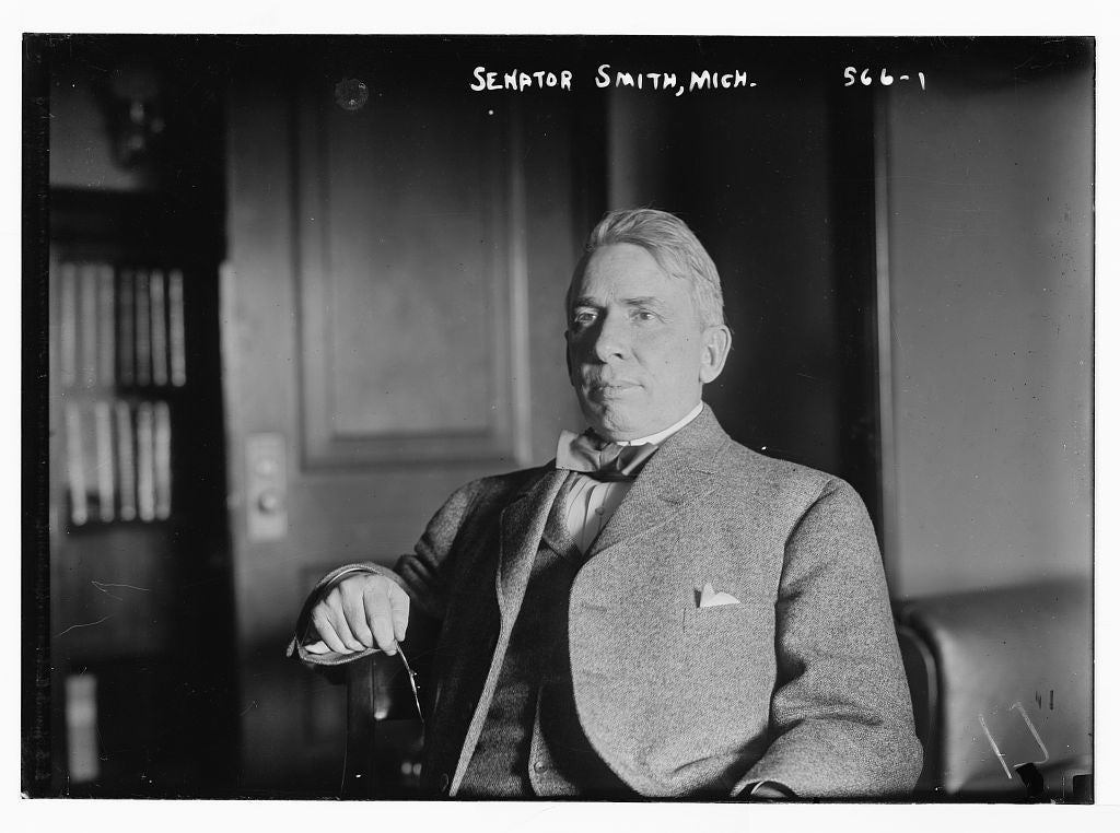 8 x 10 Photo of Senator Smith, seated in study 1890-1920 G. Bain Collection 59a
