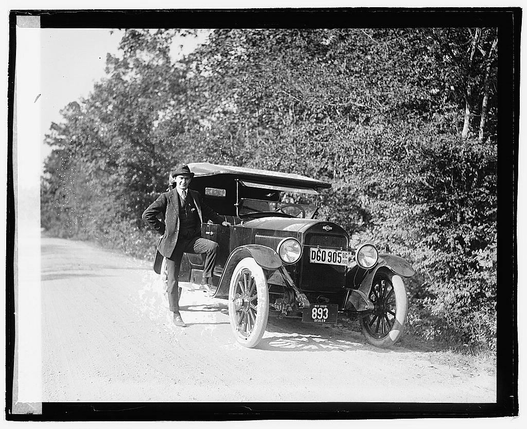16 x 20 Reprinted Old Photo ofHerald tour, Point Comfort, Gardener car 1920 National Photo Co  30a
