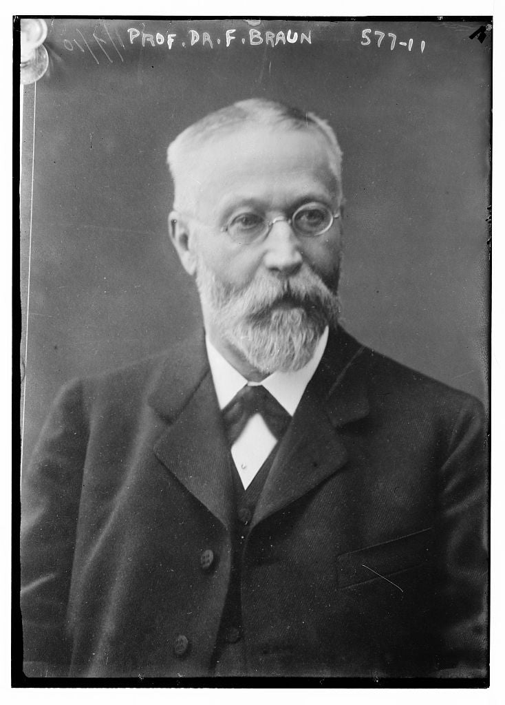 8 x 10 Photo of Prof. Braun, portrait bust 1890-1920 G. Bain Collection 10a