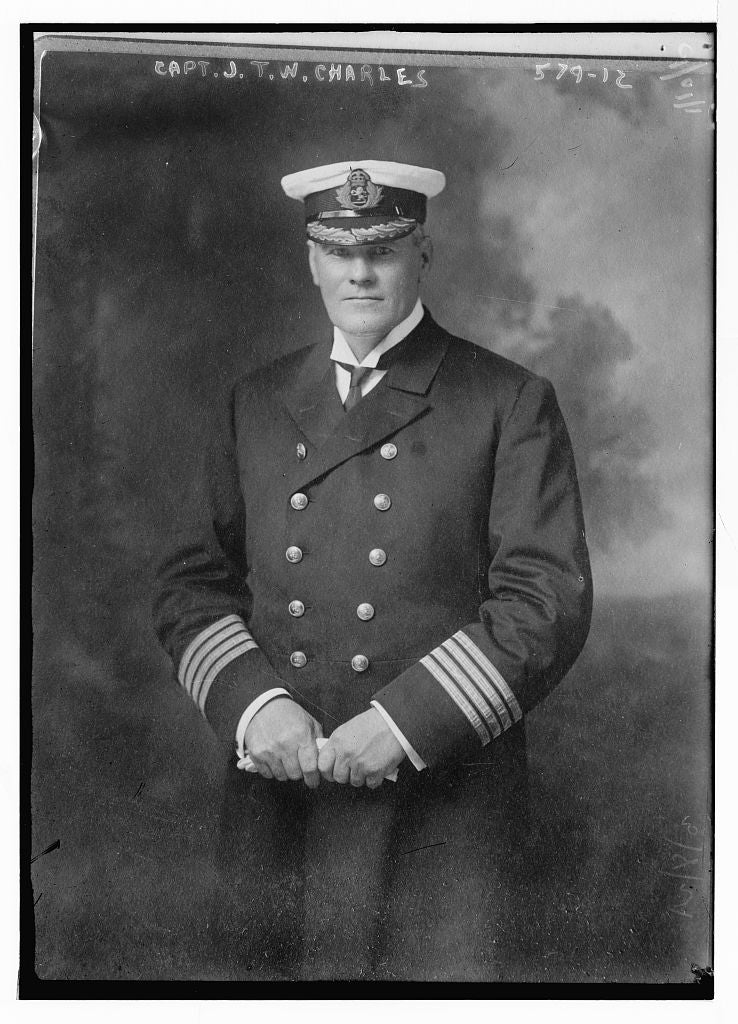 8 x 10 Photo of Capt. J.T.W. Charles 1890-1920 G. Bain Collection 25a