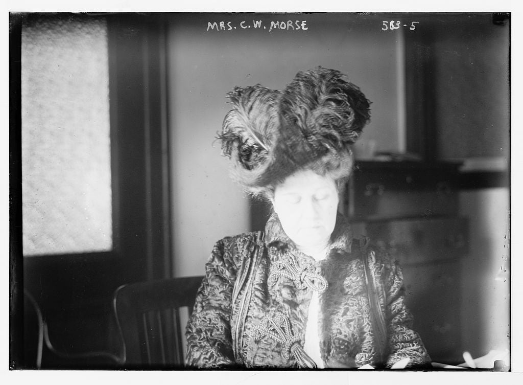 8 x 10 Photo of Mrs. U.W. Morse, seated 1890-1920 G. Bain Collection 42a