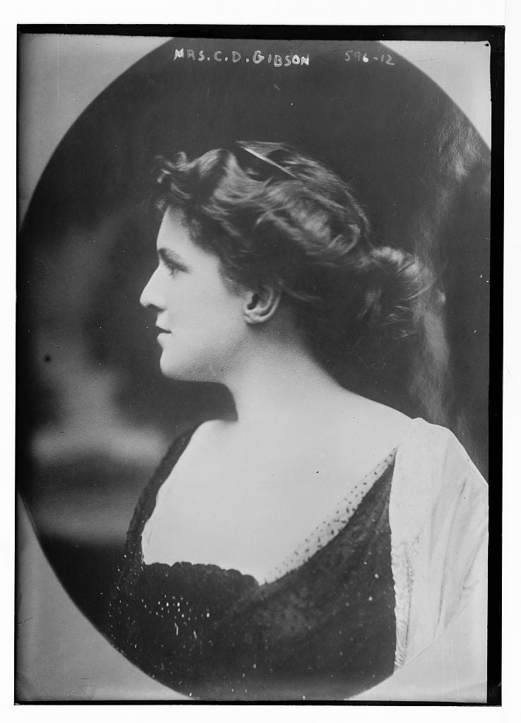 8 x 10 Photo of Mrs. C.D. Gibson, cameo portrait 1890-1920 G. Bain Collection 19a