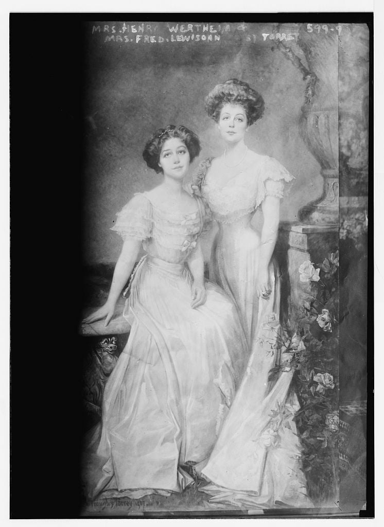 8 x 10 Photo of Mrs. Henry Wertheim and Mrs. Fred. Lewisohn, Torrey 1890-1920 G. Bain Collection 39a