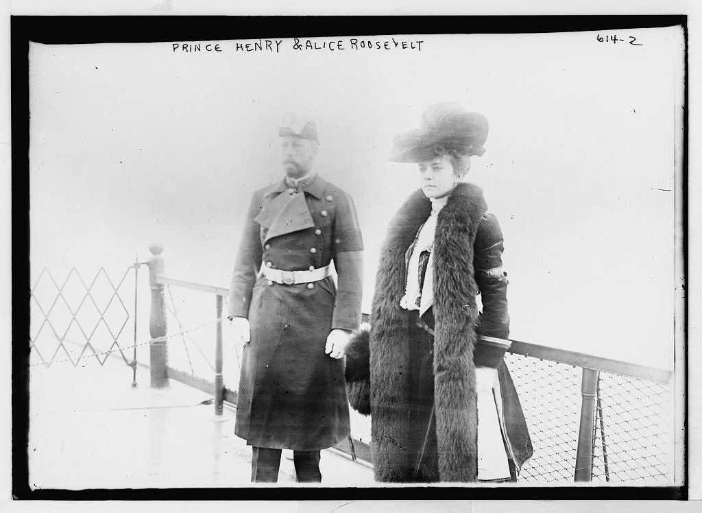 8 x 10 Photo of Prince Henry and Alice Roosevelt on deck of boat 1890-1920 G. Bain Collection 98a