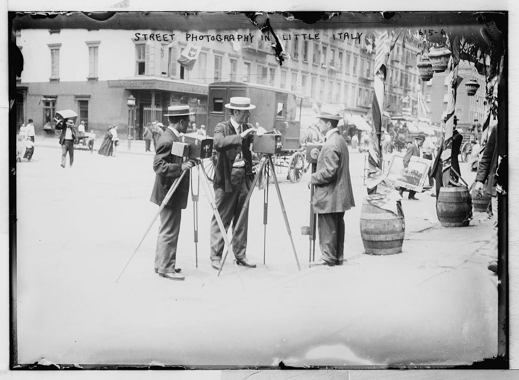 8 x 10 Photo of Street graphers, Little Italy, New York 1890-1920 G. Bain Collection 03a
