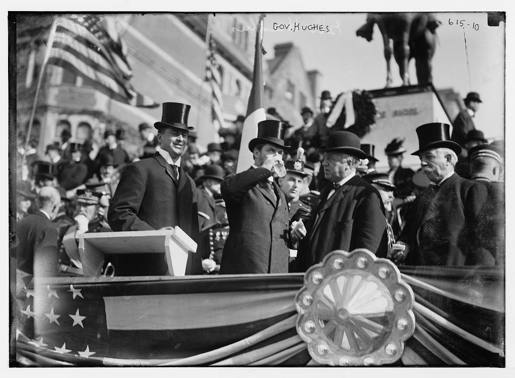 8 x 10 Photo of Gov. Hughes and others, on podium 1890-1920 G. Bain Collection 05a