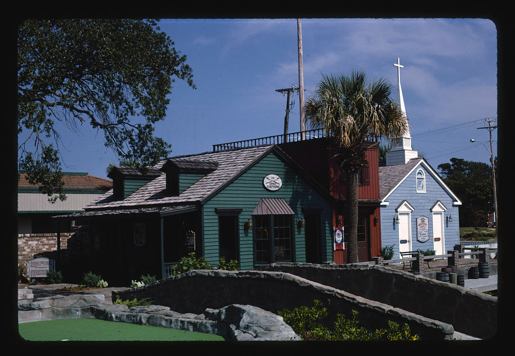 8 x 12 Photo of Storefronts 2, Moby Dick Golf, Myrtle Beach, South Carolina 1985 Margolies, John 44a