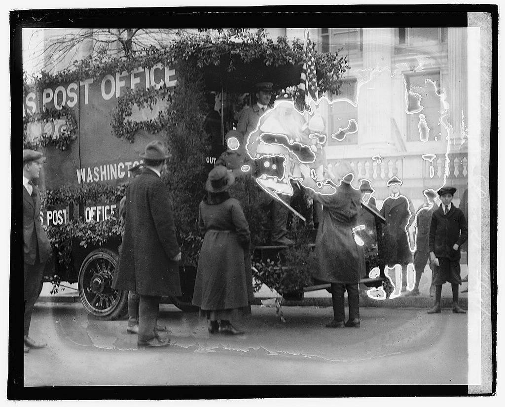 16 x 20 Reprinted Old Photo ofPost Ofc. parade, 11/29/20 1920 National Photo Co  95a