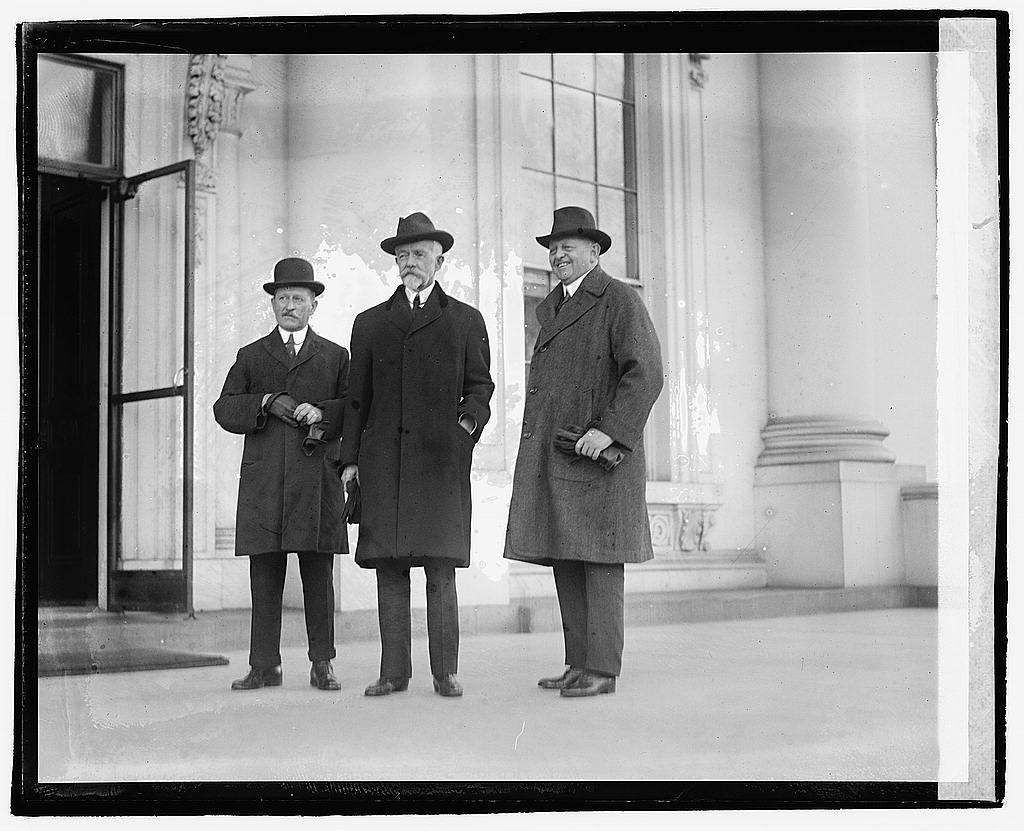 16 x 20 Reprinted Old Photo ofThree men standing outside building, 12/6/20 1920 National Photo Co  00a