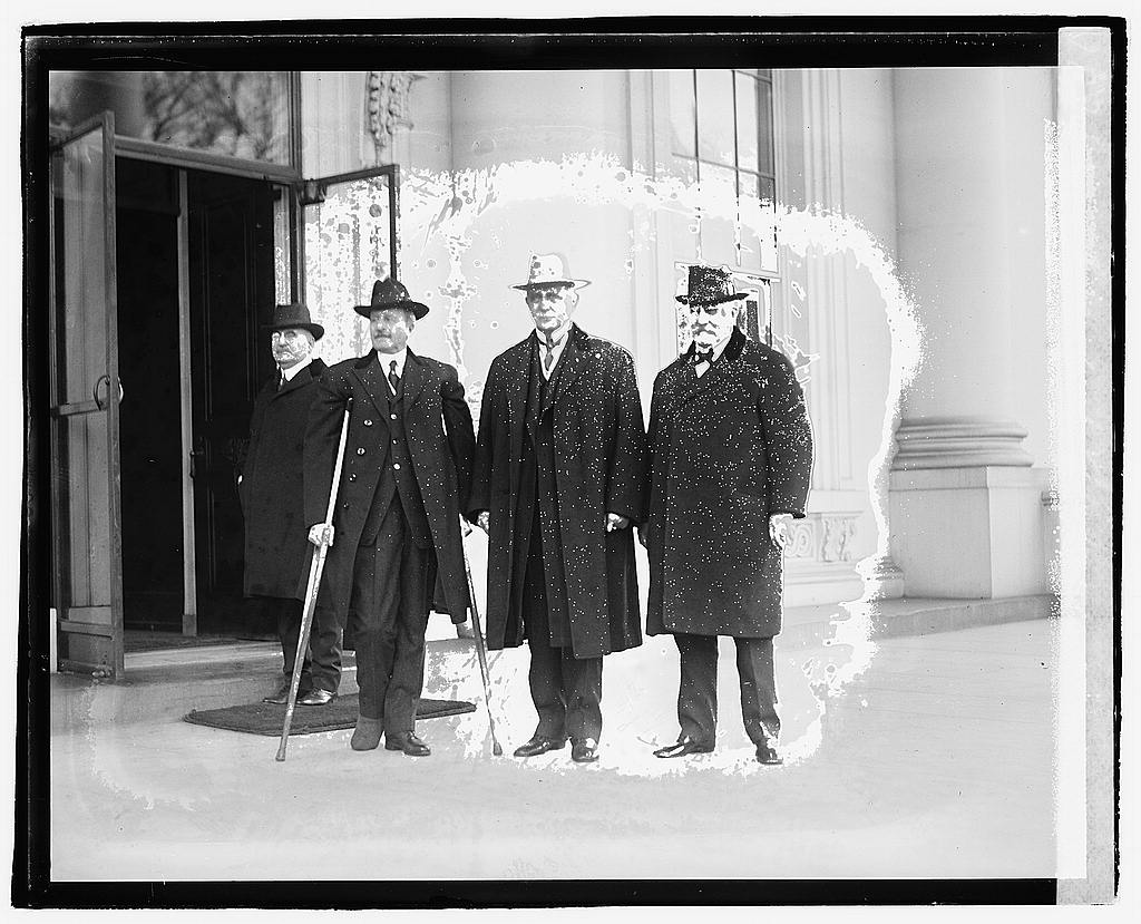 16 x 20 Reprinted Old Photo ofFour men standing outside building, 12/6/20 1920 National Photo Co  02a