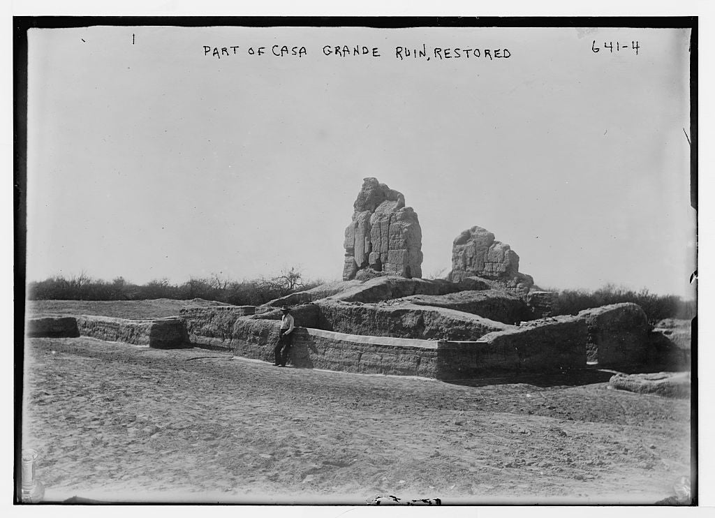 8 x 10 Photo of Restoration of part of Casa Grande ruin 1890-1920 G. Bain Collection 88a