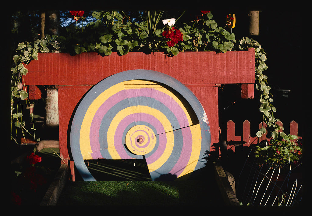 8 x 12 Photo of Revolving target 2, Nutty-Putty, Old Forge, New York 2002 Margolies, John 28a