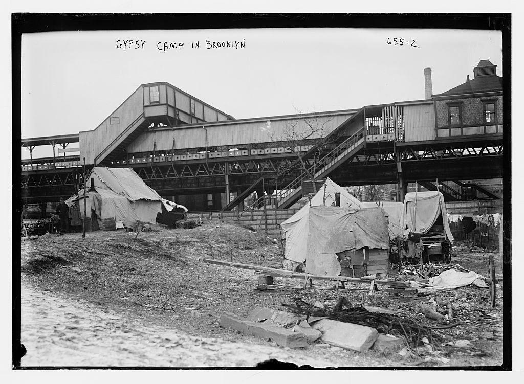 8 x 10 Photo of Tents of gypsy camp, Brooklyn, N.Y. 1890-1920 G. Bain Collection 17a