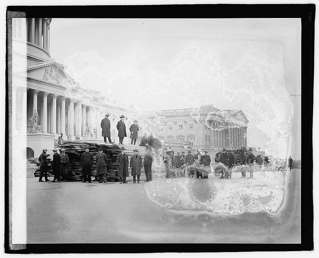 16 x 20 Reprinted Old Photo ofInaugural stands, 1/8/21 1921 National Photo Co  86a