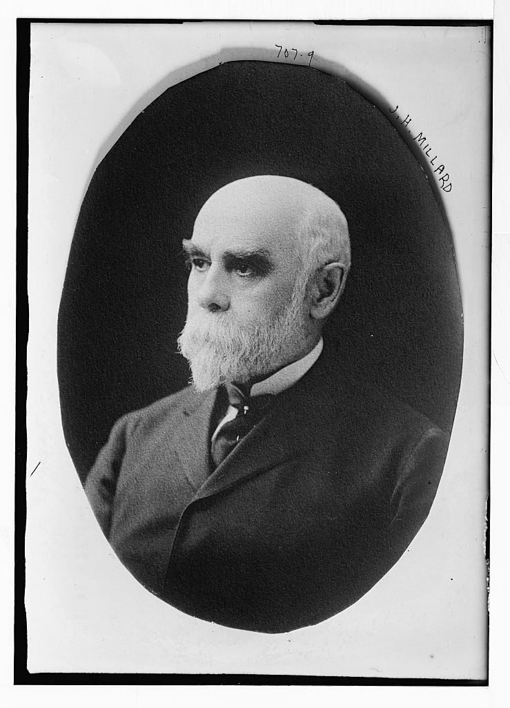 8 x 10 Photo of J.H. Millard, cameo portrait 1890-1920 G. Bain Collection 05a
