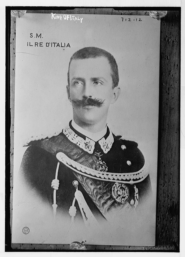 8 x 10 Photo of King of Italy, portrait in uniform, Alterocca, Terni 1890-1920 G. Bain Collection 22a