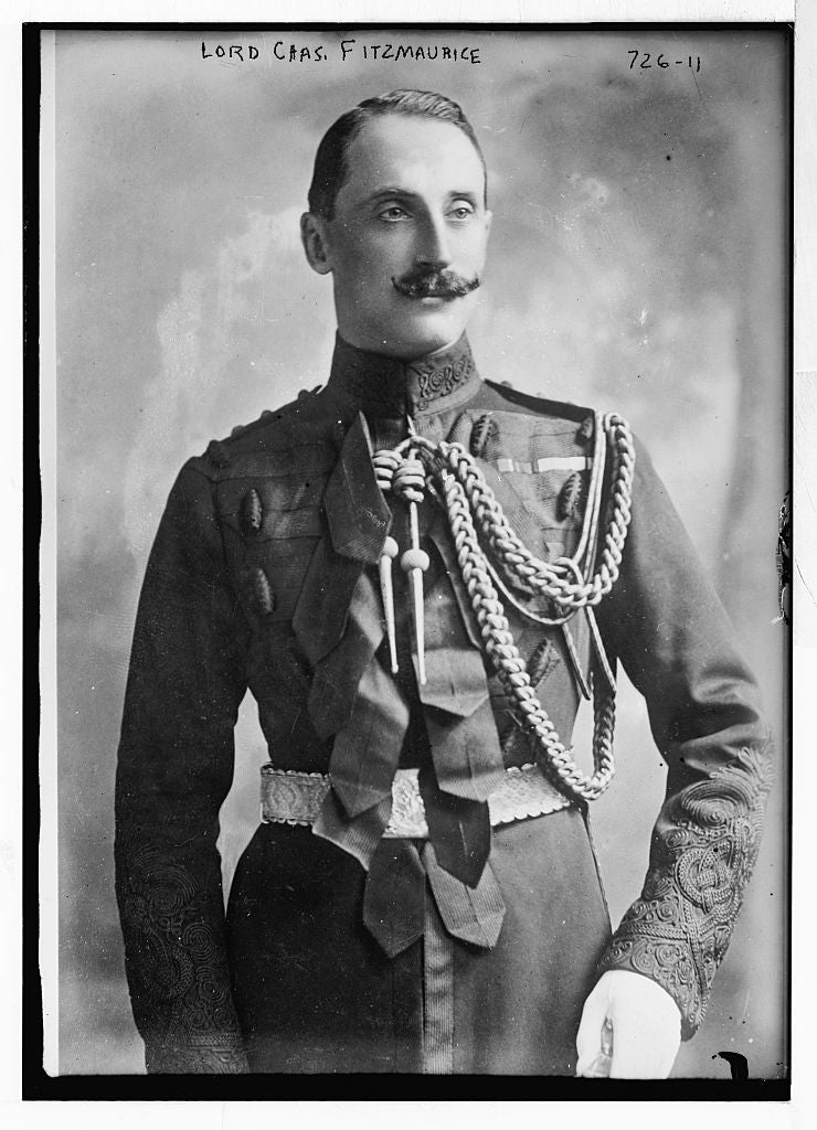 8 x 10 Photo of Lord Chas. Fitzmaurice, in uniform 1890-1920 G. Bain Collection 45a