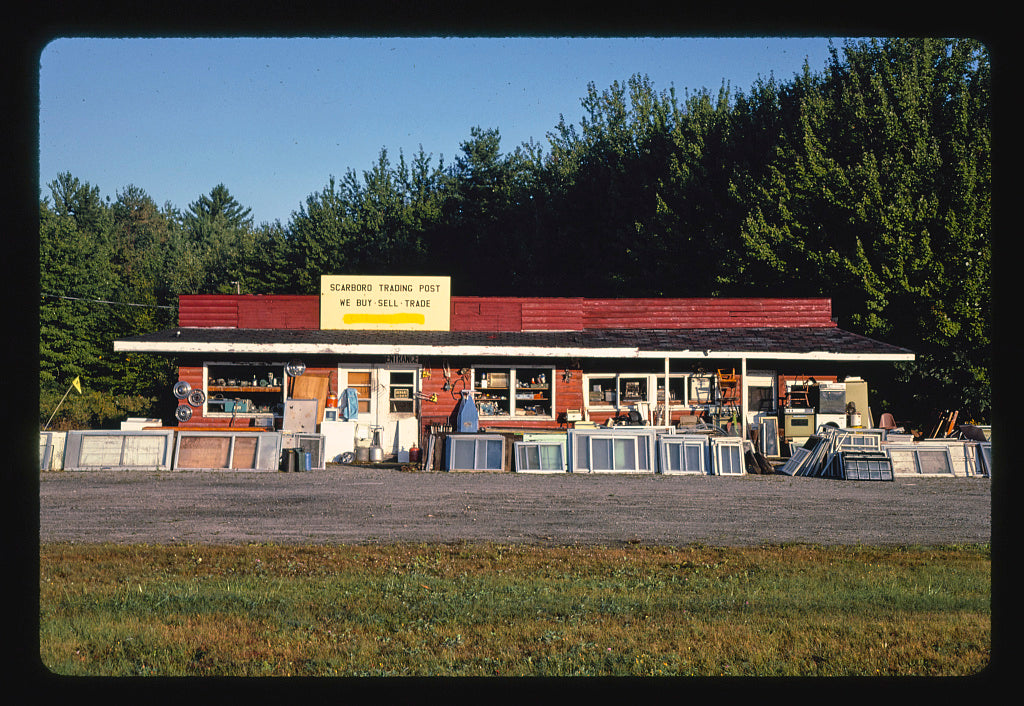 8 x 12 Photo of Storefront, Scarborough Trading Post, Route 1, Scarborough, Maine 1984 Margolies, John 22a