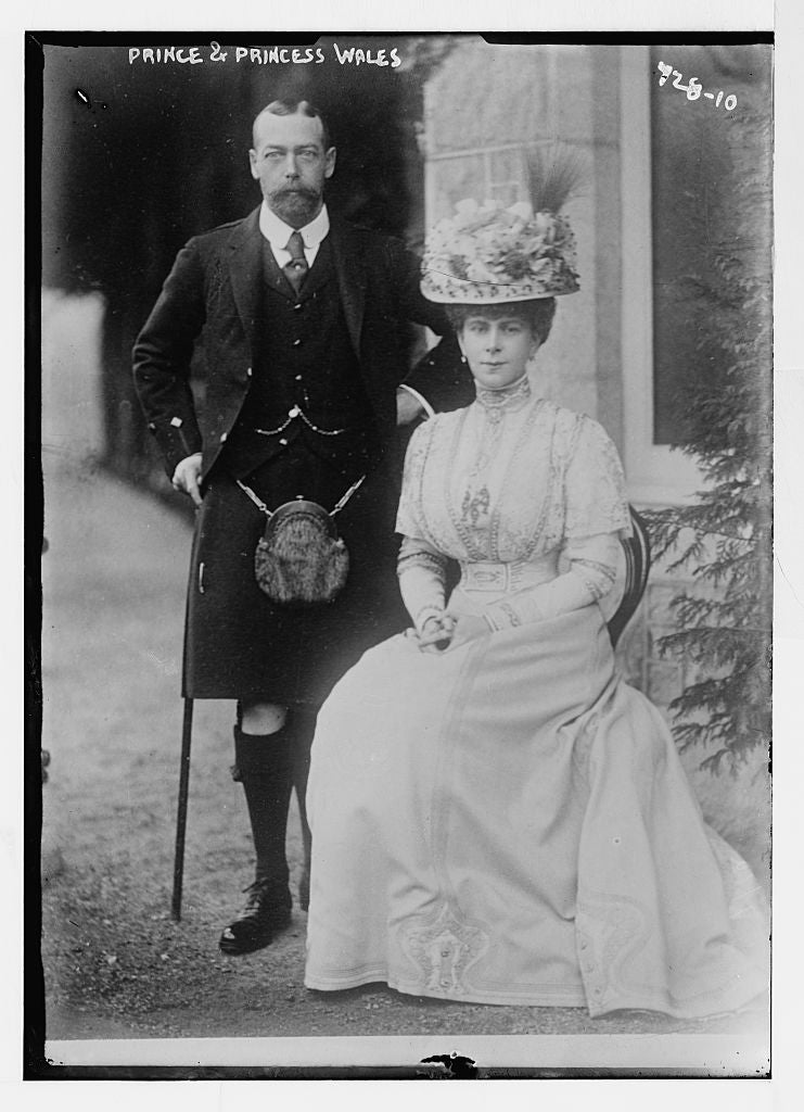 8 x 10 Photo of Prince and Princess of Wales 1890-1920 G. Bain Collection 53a