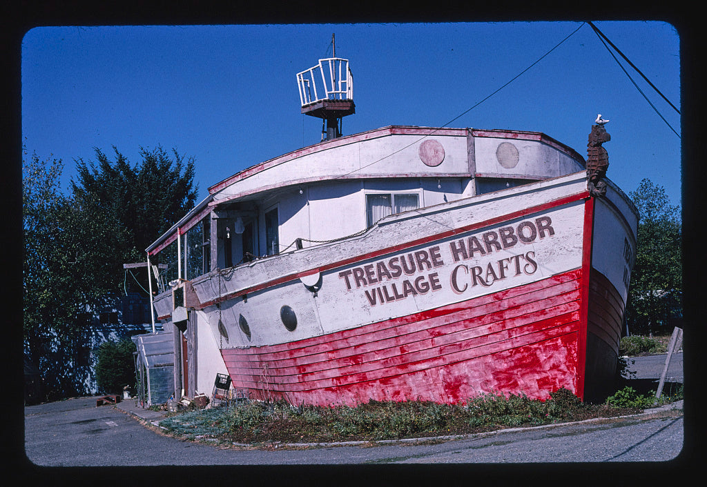 8 x 12 Photo of  Ship view 1, Treasure Harbor Village Crafts, Route 101, Brookings-Harbor, Oregon  2003 Margolies, John 28a
