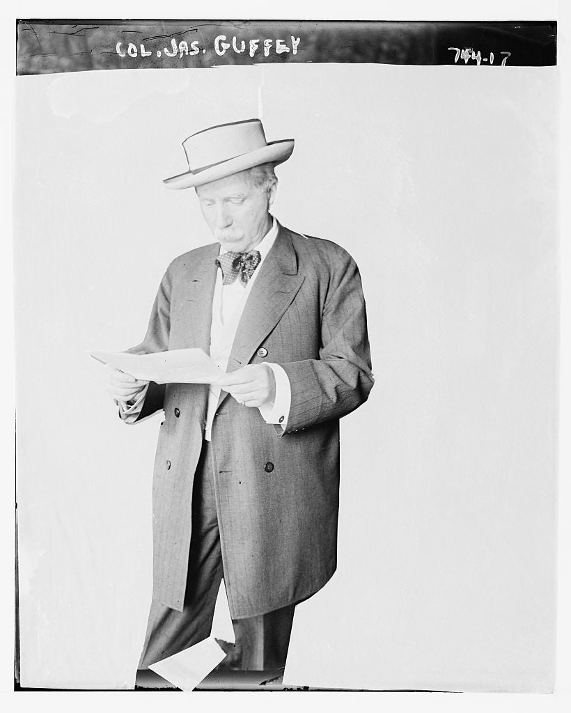 8 x 10 Photo of Col. Jas. Guffey, reading 1890-1920 G. Bain Collection 15a